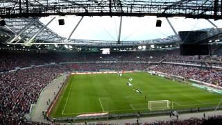 Hannover 96 - Sevilla 1. Aufstellung 2. Alte Liebe und 3. Hammer Choreo der Nordkurve
