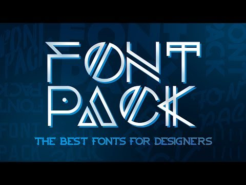 Best Font Pack For Designers!