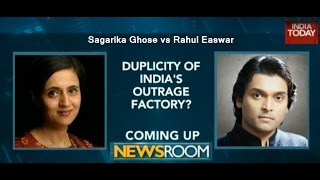 India Today -- Sagarika Ghose vs Rahul Easwar
