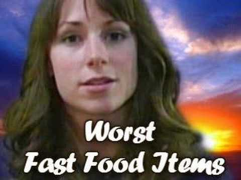 Worst Fast Food Items, Nutrition By Natalie