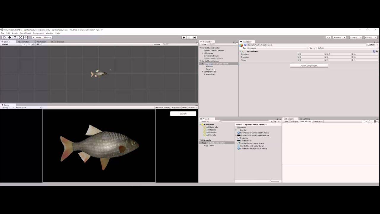 Unity Sprite Sheet Creator Demo