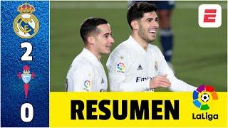 Real Madrid 2-0 Celta de Vigo. Victoria sin sufrimiento, con goles de Asensio y Vázquez | LaLiga