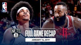 Full Game Recap: Nets vs Rockets | Harden Goes For 58 In Overtime