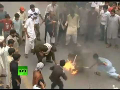 MUSLIM PROTESTS in Pakistan: POLICE VIOLENCE, MAJOR GUNFIRE one person reported DEAD