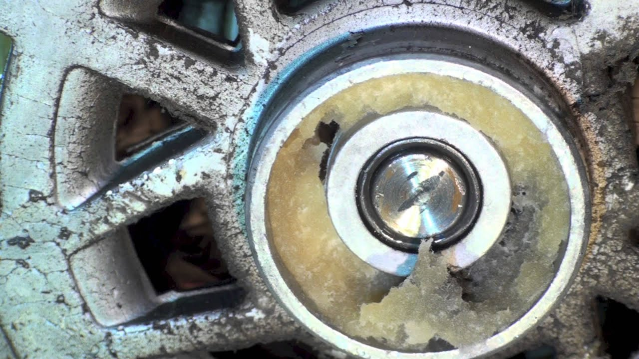 HVAC fan motor bearing failure - YouTube