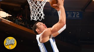 Was Aaron Gordon previewing the 2020 NBA Slam Dunk Contest with these? | The Jump