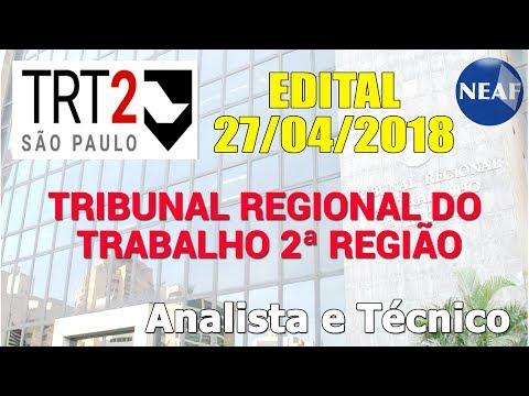 Análise do Edital TRT-2 2018