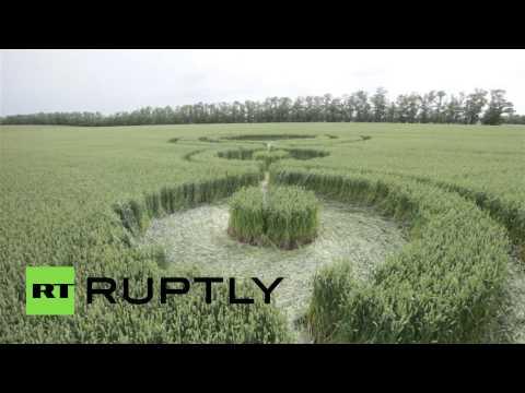 'Alien Patterns': Drone buzzes crop circles in Adygea, Russia