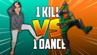 1 KILL = 1 FORTNITE DANCE IN REAL LIFE CHALLENGE WITH MY 5 YEAR OLD LITTLE BROTHER! (*NEW DANCES*)