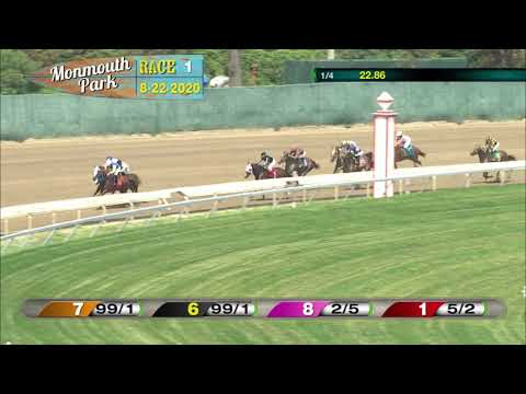video thumbnail for MONMOUTH PARK 08-22-20 RACE 1