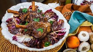 Debbie cooks Braised Lamb Shank - Home & Family