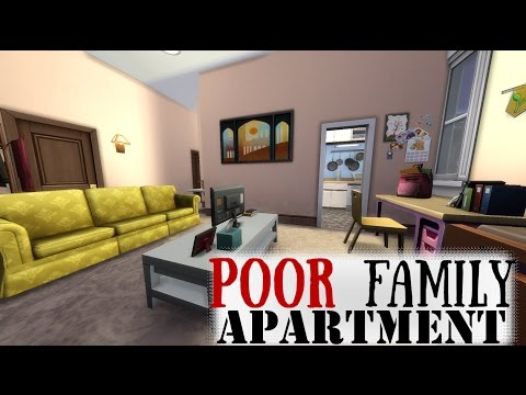 Sims 4 | Poor Family Apartment | Single Mom