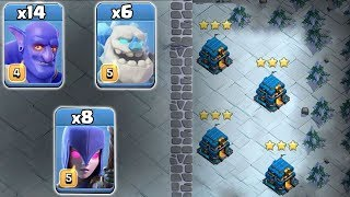 Ice Golem TH12 Attack Strategy 2019! Queen Walk With Ice Golem BoWitch 3star TH12 War Attack