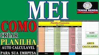 MEI - Como Criar Planilha Financeira | Controlar Entradas e Saídas da Empresa thumbnail