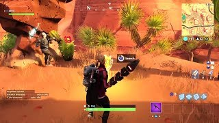 Fortnite Battle Royale - Search Between An Oasis, Rock Archway & Dinosaurs Challenge Location