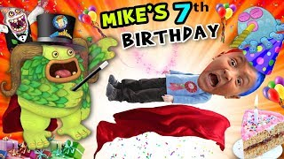 Mike's 7th Birthday! A Magically Monsterific Party Celebration! Funnel V B Day Vlog