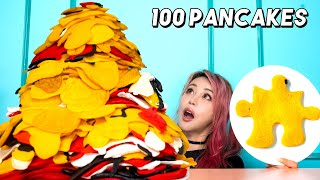 I Made The Largest Pancake In The World! Using Pancake Art