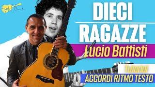 Dieci Ragazze - Lucio Battisti - Chitarra - Facile