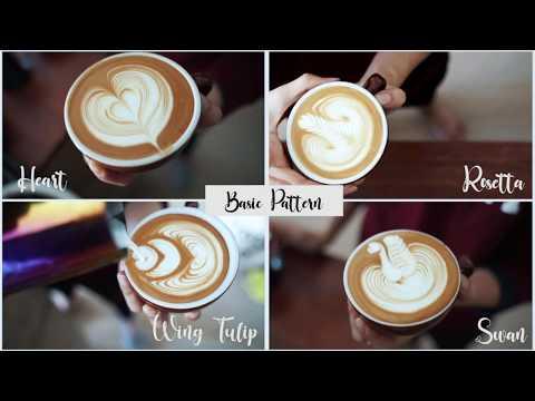 EP.3 เริ่มต้นฝึกลาเต้อาร์ต ลายเบสิค หัวใจง่ายๆ/การตีนม/How to make Latte art