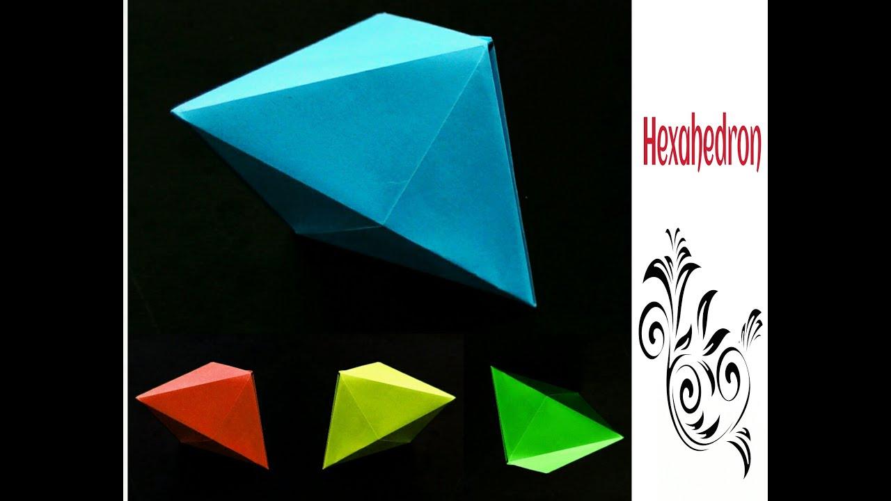 Origami paper hexahedron deltahedron 3d youtube jeuxipadfo Choice Image