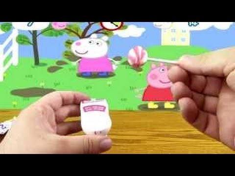 candy and peppa pig toys