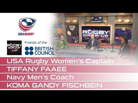 USA Rugby Women's Captain Tiffany Faaee & Navy Men's Coach Koma Gandy Fischbein