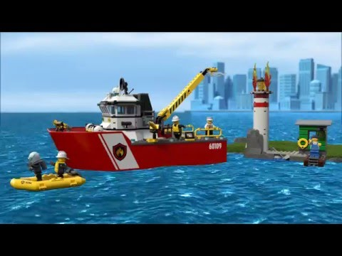 fire boat lego city product animation 60109