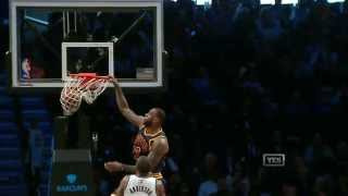 NBA: Lebron James Throws Down the Ferocious Alley-Oop Jam