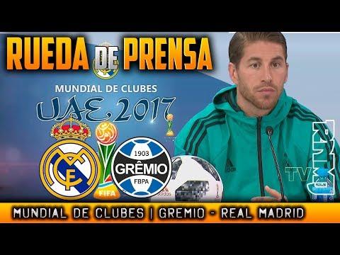 Real Madrid - Gremio Rueda de prensa SERGIO RAMOS   FINAL Mundial de Clubes 2017 (16/12/2017)