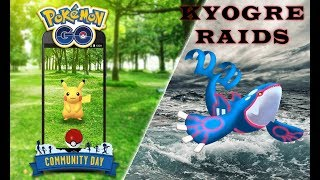 Pokemon Go New/Boosted Kyogre Raids