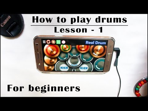 Real Drum App Tutorial For Beginners (Lesson - 1) - By Vijay Yadavar.