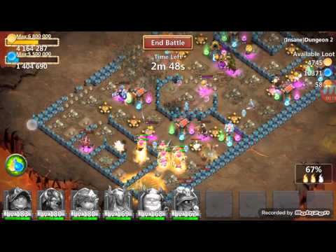 3 Flame Insane Dungeon 2-1! Castle Clash