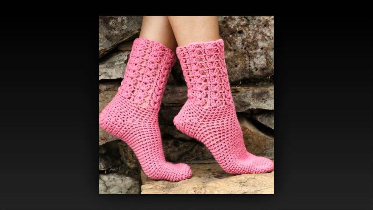 How To Crochet Knee High Socks Youtube