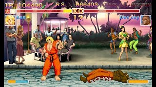 Ultra Street Fighter 2 Ken arcade mode playthrough  (New Style sounds and music) thumbnail
