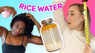 We Try The Popular Rice Water For Extreme Hair Growth Hack