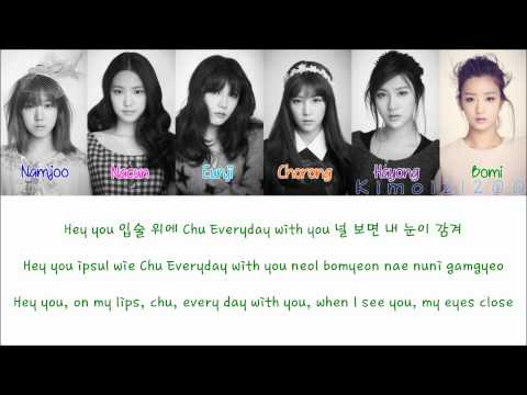 APink - Mr. Chu (On Stage Ver.) [Hangul/Romanization/English] Color & Picture Coded HD