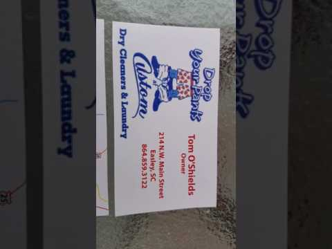 Easley storage highly recommends Tom at Custom dry cleaners and laundry wash and fold South Carolina