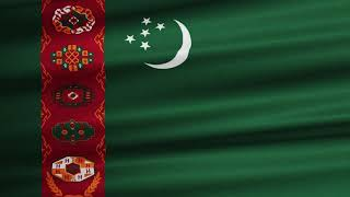 Flag Of Turkmenistan Waving [FREE]