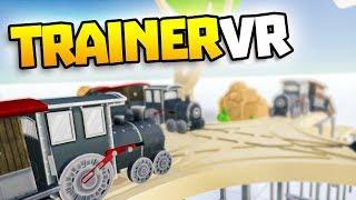 CRASHING TRAINS ON CRAZY TRACK - TrainerVR - Train Building VR Game - VR HTC Vive Gameplay