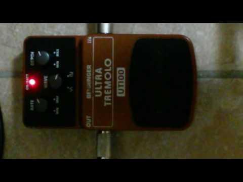 Behringer Ultra Tremolo (UT-100) Pedal Demo