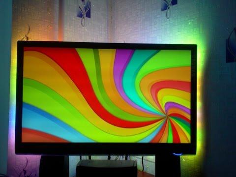 Самодельная фоновая подсветка монитора 10 зон