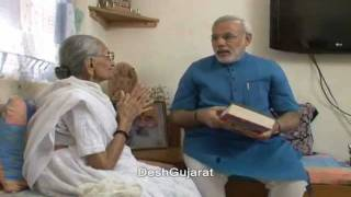 Narendra Modi visits his mother to seek her blessing on birthd…