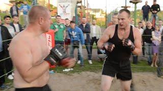 Черная майка против Белоруса, Жесткий бой !! СТРЕЛКА