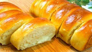 Super Soft and Fluffy Milk Bread Recipe  Condensed Milk Bread  No Knead Pull-Apart Bread