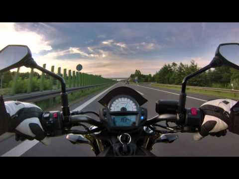 Top Speed Kawasaki ER-6n 2012 / 2013 GoPro Hero 3
