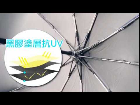 影片實拍-黑膠抗UV傘【10骨抗強風 黑膠傘 自動傘】防曬傘 雙人傘 折傘 折疊雨傘 摺疊傘 陽傘 折疊傘 自動折疊傘