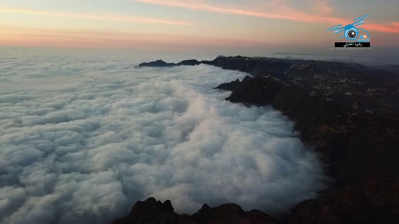 امواج الضباب تعانق جبال السوده غرب ابها ١٤٤٠ ٥ ٣