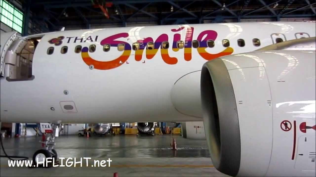 THAI Smile 's First Airbus A320-200 Cabin Tour ไทยสมายล์ ...