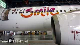 Video THAI Smile 's First Airbus A320-200 Cabin Tour ไทยสมายล์ download MP3, 3GP, MP4, WEBM, AVI, FLV Juni 2018