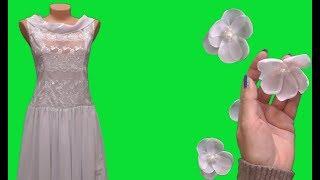 Обзор готового белого бального платья